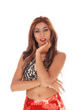 Slim young gorgeous woman. Stock Photos