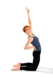 Slim Young Woman doing Yoga Exercise Royalty Free Stock Image