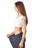 Slim young woman Royalty Free Stock Photos