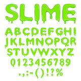 Slime alphabet numbers and symbols stock illustration