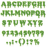 Slime alphabet  on white background Stock Photography