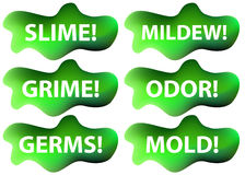 Slime Icon Set. An image of a slime icon set Stock Images