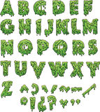 Slime letters. Green slime letters. Vector clip art illustration with simple gradients. Each element on a separate layer Royalty Free Stock Images