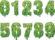 Slime numbers Royalty Free Stock Photo