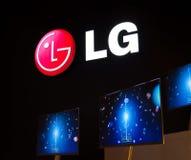 Slimline TV van LG bij IFA Royalty-vrije Stock Fotografie