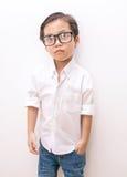 Slimme Aziatische jongen Royalty-vrije Stock Foto's