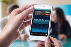 Slimme forex app royalty-vrije stock fotografie