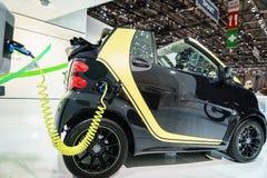 Slimme fortwo elektrische aandrijving, Motorshow Geneve 2015 Royalty-vrije Stock Foto
