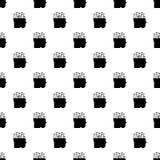 Slimme het patroon naadloze vector van de hersenenmening royalty-vrije illustratie
