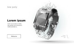 Slimme horloge lage poly vector illustratie