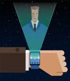 Slimme Nieuwe Horlogeillustratie Vector Illustratie