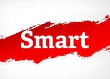 Slimme Rode Borstel Abstracte Illustratie Als achtergrond vector illustratie