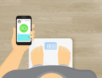Slimme schalen mobiele app royalty-vrije illustratie