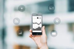 Slimme technologieën in zaken royalty-vrije stock afbeeldingen