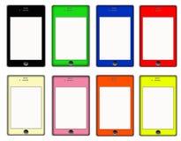 Slimme Telefoon Gekleurde Reeks Stock Afbeelding