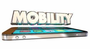 Slimme Telefoon van de mobiliteits de Mobiele Cel stock illustratie