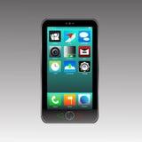Slimme telefoon vastgestelde app Royalty-vrije Stock Foto's
