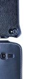 Slimme telefoons die u bekijken Stock Foto