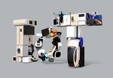 Slimme toestellen in woord IoT Stock Fotografie