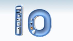 Slimme toestellen in woord IoT stock video