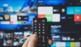 Slimme TV stock fotografie
