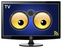 Slimme TV let op u vector illustratie