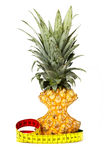 Slimmed pineapple Stock Photography