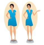 slimming девушки Стоковые Изображения