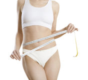 Slimming belly stock image