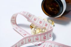 Slimming capsules Stock Photography