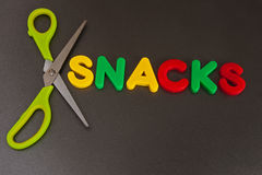 Slimming: cut out snacks Royalty Free Stock Images
