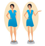 Slimming girl Stock Images