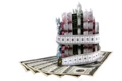Slimming for the money Royalty Free Stock Photography