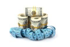 Slimming para o dinheiro Fotos de Stock Royalty Free