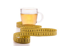Slimming tea with meter Stock Image