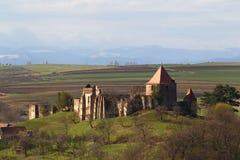 Slimnic堡垒,锡比乌,特兰西瓦尼亚,罗马尼亚 免版税图库摄影