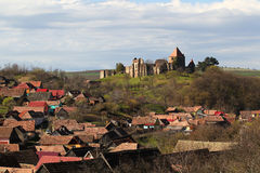 Slimnic forteca, Sibiu, Transylvania, Rumunia fotografia stock