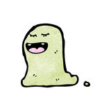 Slimy cartoon ghost Stock Photos