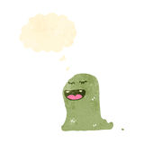 Slimy ghost with thought bubble Royalty Free Stock Photo