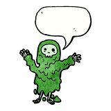 Slimy ghoul cartoon Royalty Free Stock Photography