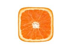 Slince carré orange Photos libres de droits