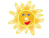 Slince dell'arancio di Sun Fotografie Stock Libere da Diritti
