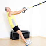 Sling suspension stretching exercise royalty free stock image