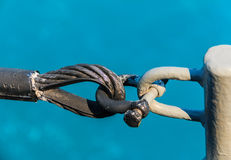 Sling tied by Shackle Stock Images