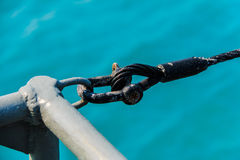 Sling tied by Shackle Royalty Free Stock Images
