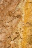Slinga för springbrunnmålarfärgkruka mellan gayser som kokar gyttjatips och brända träd in i den Yellowstone nationalparken arkivfoto