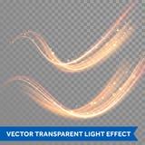 Slinga för virvel för gnista för vektormagi glödande Bokeh blänker den ljusa vågen Royaltyfri Foto