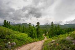 Slinga i bergen Arkivfoto