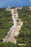 Slinga i Karkonosze berg Arkivfoto
