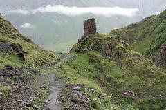 Slinga Kaukasus berg, Georgia Arkivbild